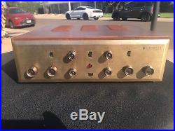 H. H. Scott Stereomaster 222-B Stereo Tube Amplifier Antique Vintage SERVICED