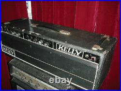 Kelly 100w treble bass vintage valve amplifier tube amp british EL34 2 channel