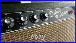 Killer Grail Vintage 1964 Fender Blackface Deluxe Reverb Tube Amplifier Pristine