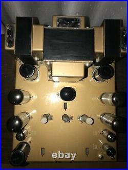 Leak Stereo 50 vintage tube power amplifier upgraded Black Gate, Mullard & more