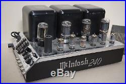 McIntosh MC240 POWER AMPLIFIER MC240 VINTAGE TUBE AMP