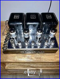 Mcintosh Mc240 Vintage Tube Amplifier In Very Good Condition