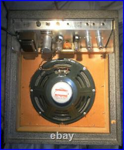 Nice Vintage 60s SEARS SILVERTONE 1482 TUBE AMP Jensen Special Design C12R Reca