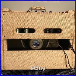 Original Gibson Explorer GA-18 1959 Vintage Tweed Guitar Amp withfoot switch