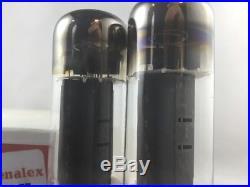 PAIR VINTAGE Genalex KT77 (6CA7 EL34) AMP VACUUM TUBE Hickok TESTED #K. 5113