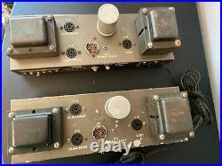 PAIR of Vintage Eico HF-14 Tube Amplifiers Rare Monoblocks for Rebuild
