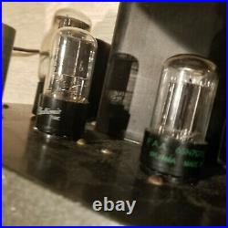 Pair Vintage Heathkit W4 tube amplifier serviced in working condition
