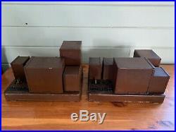 Pair of 1920s Victor Tube Amplifier Type 245 Vintage Audio Mono Push Pull Amp