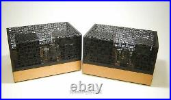 Pair of Vintage Heathkit W-5M Monoblock Tube Amplfiers with Covers - KT1