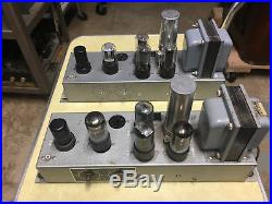Pair vintage Bell Air Electronics 6V6 tube amps Western Electric Langevin 138G