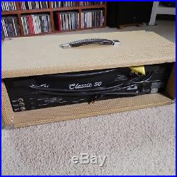 Peavey Classic 50 Head Tweed Vintage 90's Tube Amp, Includes custom Amp Cover