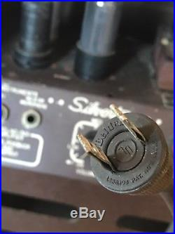 RARE VINTAGE 1950'S Silvertone model 1301 tube amp, guitar amplifier +PHOTOFACT