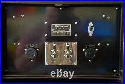 RARE VTG Magnavox Amplivox CA2 F Tube Amplifier with Horn Speaker in Cabinet