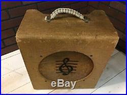 RARE Vintage Fidelity De-Luxe Combo Tube Amplifier Guitar Amp 1950's