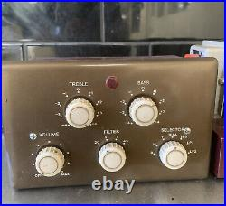 ROGERS RD JUNIOR Vintage Tube Pre-amp Amplifier & 2 Spare Valves Mono Hifi