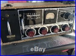 Rare 1950's vintage tubed Gates Dynomote Studio mic mixer Console tube amp