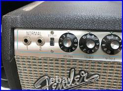 Rare Vintage 1969 1970 Fender Custom Twin Reverb Tube guitar AB763 Amp 260W