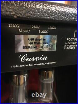 Rare Vintage 1984 USA Carvin X-60 X60 Tube Guitar Amp Amplifier