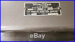 Rare pair vintage WURLITZER 771 mono triode tube amplifier 45 2A3 PP