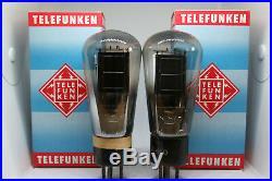Re604 Tube Pair Valvo Lk460 Mono Plate Stereo Vintage Amp Ad1 Ed Px25 Telefunken