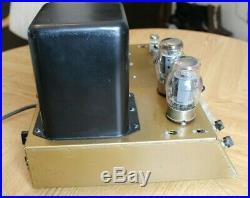 SINGLE Vintage Heathkit W6A W6M Mono Tube Amplifier 1960s 70 Watts