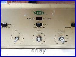 Scott Type 99C Vintage Tube Amplifier Parts or Refurbish