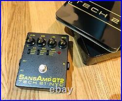 Tech21 Sansamp GT2 Guitar Pedal Analog Pre-Amp Stomp Box Vintage Tube Tone Tin