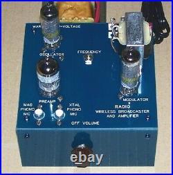 UNBUILT KIT vintage vacuum tube Knight RADIO BROADCASTER & AMPLIFIER repro set