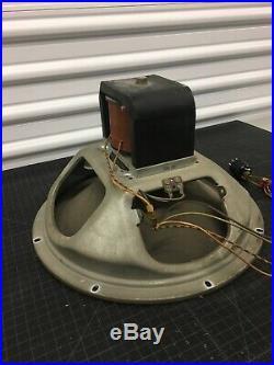 VINTAGE 1947 MAGNAVOX 15 FIELD-COIL CURVED CONE SPEAKER for TUBE AMP JENSEN