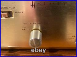 VINTAGE 340 HH SCOTT STEREO TUBE AMP RECEIVER Serviced Works Great