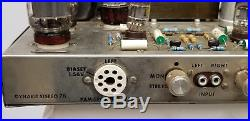 VINTAGE 60's DYNACO ST70 STEREO 70 TUBE AMP POWERS UP