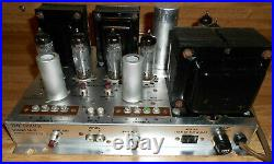 VINTAGE FISHER SA-16 STEREO TUBE POWER AMPLIFIER With AMPEREX QUAD 6BQ5 WKS AS IS