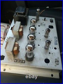 VINTAGE MAGNAVOX VACUUM TUBE STEREO POWER AMPLIFIER AMP 6v6 88 02 00 recapped