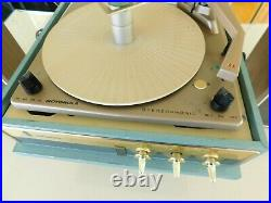 VTG MOTOROLA RECORD PLAYER STEREO TUBE AMPLIFIED SPEAKERS RESTORED Watch it Play