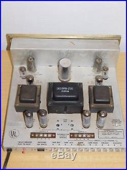 VTG STROMBERG CARLSON TUBE AMPLIFIER STEREO 24 With MANUAL QUAD-EL84 6BQ5 PHONO