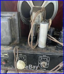Vintage 1930's Dickerson Amplifier Idaho Slim Tube Amp Very Rare Steel Guitar