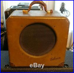 Vintage 1940's Gibson EH-125 Tube Guitar Amplifier Pre-War Gibson Amp with3 prong