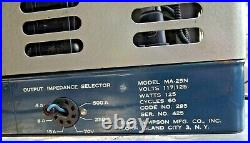 Vintage 1940's Masco Ma-25n Amp Amplifier Tube