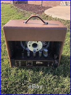 Vintage 1950 Gibson Tube Guitar Amplifier Amp Model BR-6 BR6 BR 6