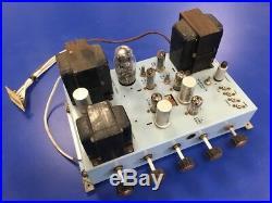 Vintage 1950s Pye High-Fidelity HF 5/8 Valve / Tube Amplifier / Amp READ