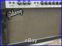 Vintage 1960's Gibson GA-35 RVT Lancer guitar amp-7 tubes, foot pedal, reverb/trem
