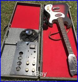Vintage 1960's Sears/Silvertone Model #1457 RED SPARKLE GUITAR TUBE AMP IN CASE