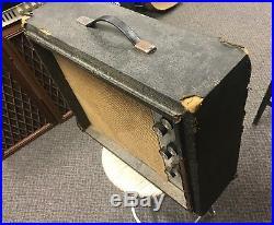 Vintage 1960s Silvertone 1482 Tube Guitar Amplifier, Amp, Beat But Sounds Great