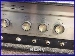 Vintage 1960s Silvertone 1484 Twin Twelve Tube Amp Amplifier Head