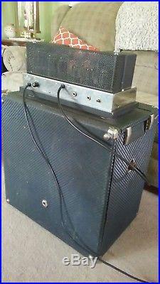 Vintage 1962 Ampeg B-15N Portaflex Fliptop Tube Amp. Original Tubes and Jensen