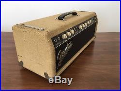Vintage 1962 Fender Tremolux Blonde Guitar Amp Tube Head Pre-CBS 6G9-B