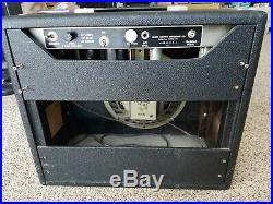 Vintage 1964 Fender Princeton Tuxedo Transition 6G2 Tube Guitar Amplifier Amp