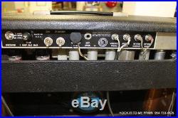 Vintage 1965 Fender Deluxe Reverb Amp Tube Electric Guitar Amplifier Blackface
