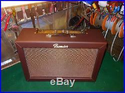 Vintage 1965 Premier T12R REVERB TREM 7591 Tube Guitar Amp 2x12 Jensen Speakers