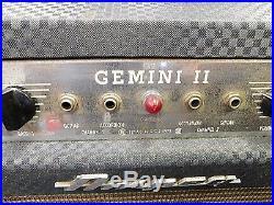 Vintage 1966 Ampeg Gemini II 30 Watt 1x15 All Tube Combo Amp! CLEAN TONE MONSTER